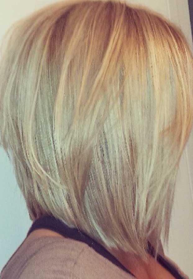 Blonde Bob Haircuts with Thin Layers