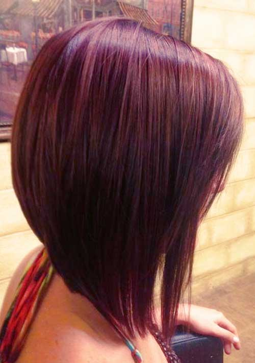Red Long A-Line Bob Haircuts