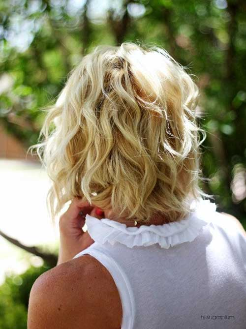 Girls Wavy Bob Hairstyles Back View