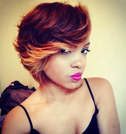 Black Girls Highlighted Bob Haircuts 2014-2015