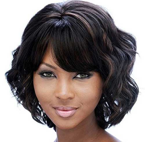 Bob Curly Haircuts for Black Girls 2014-2015