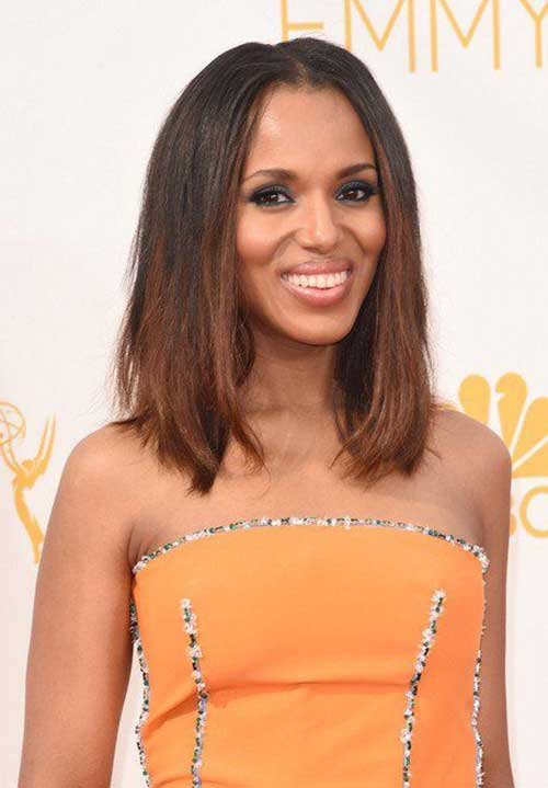 Straight Hairstyles Long Bob for Black Girls 2015