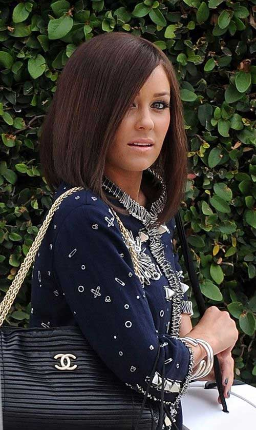 Lauren Conrad Long Angled Bob Hairstyle