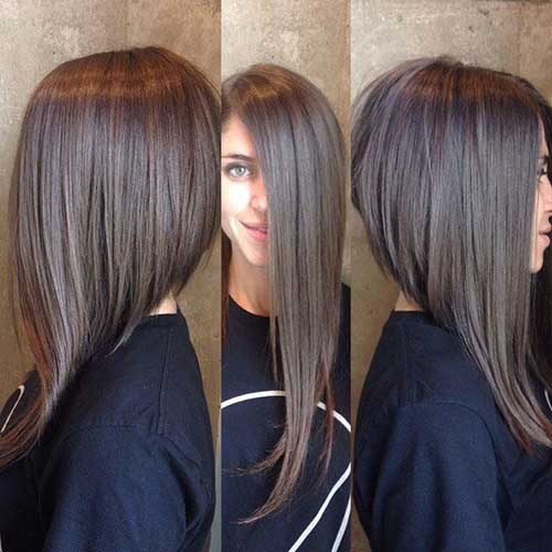Long Angled Bob Cut Styles