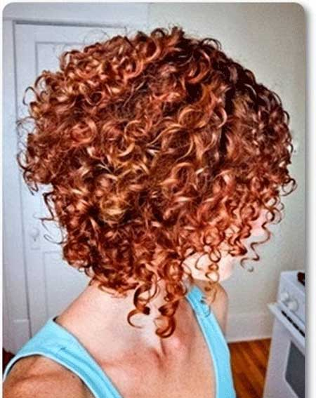 Short Curly Bob Style