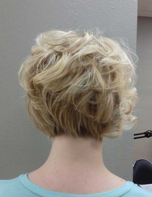 Short Curly Bob Back View