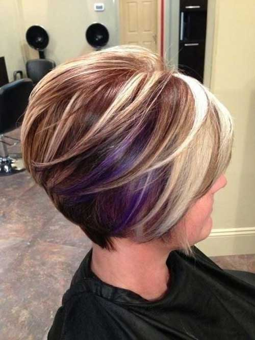 Stacked Bob Hairstyle women short stacked bob hair Stacked Bob Haircuts For Thick Hair