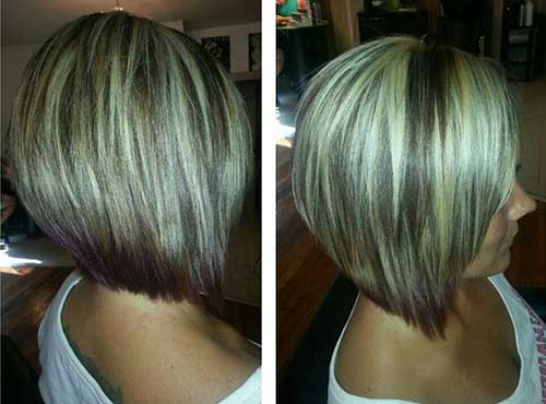 Best Angled Bob Hairstyles Back View