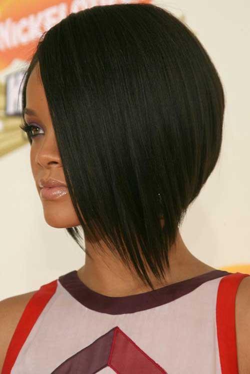 Asymmetrical Bob Hair Rihanna's Style