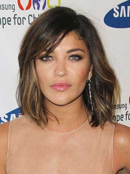 20 asymmetrical bob with bangs bob hairstyles 2017 short wavy asymmetrical long bob haircut with bangs urmus Image collections