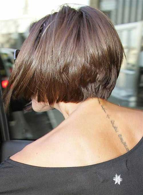 Back of Inverted Bob Haircut