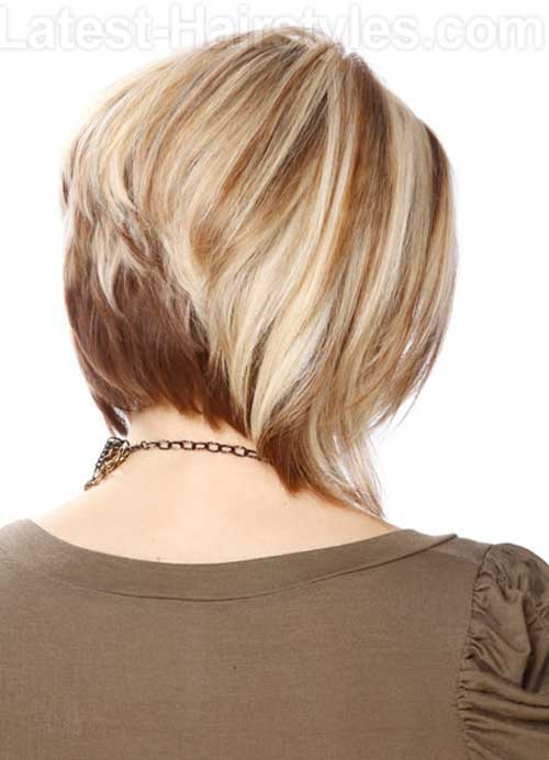 Back of Layered Medium Bob Hairstyles