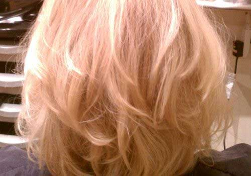 Blonde Bob Hairstyles Back View