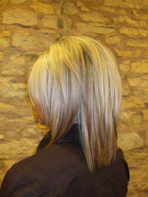 Blonde Bob Hair with Lowlights