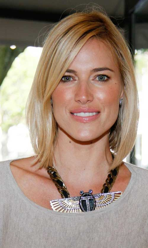 Yolanda Foster S Blonde Bob Haircut For Long Face