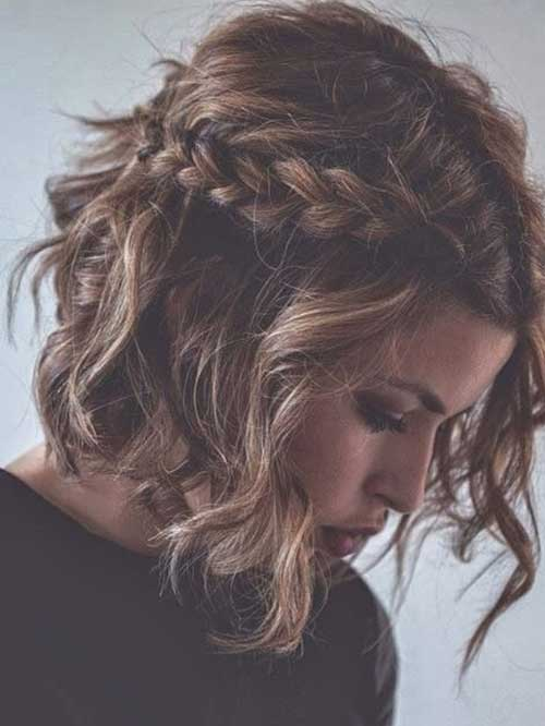Wavy Braided Bob Hairstyles