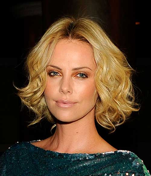 Charlize Theron Hairstyles for Long Face