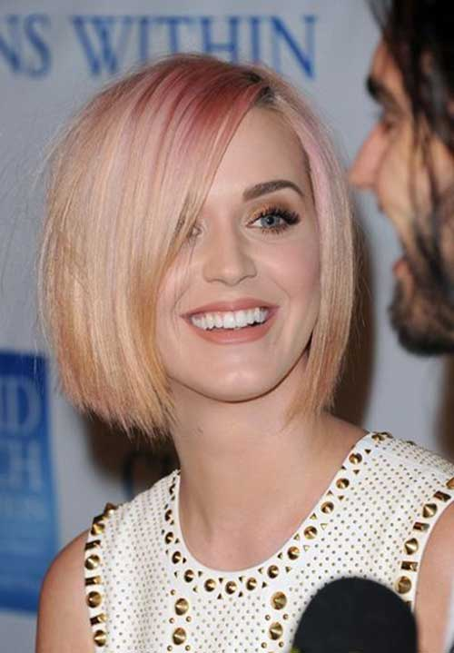 Katy Perry Cropped Bob Hairstyles