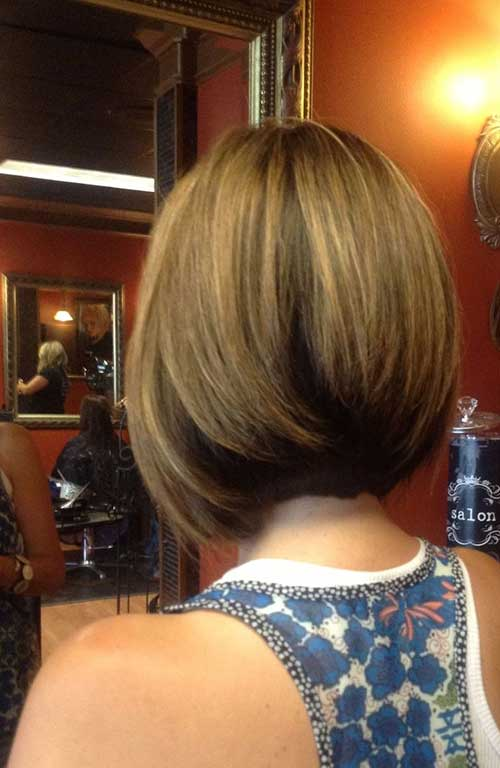 Cute Inverted Bob Haircut's Back View