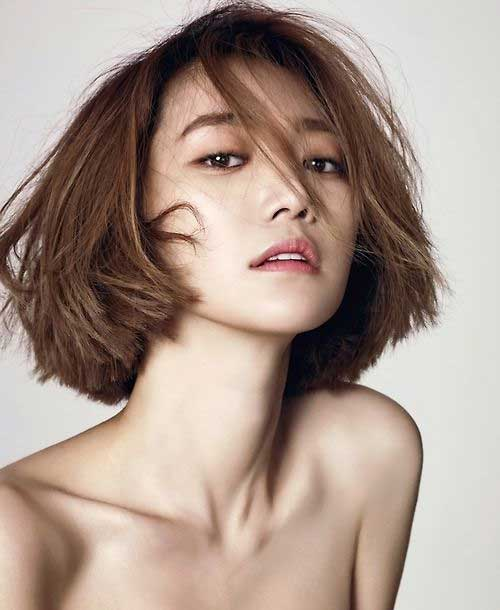 Cute Messy Bob for Korean Women