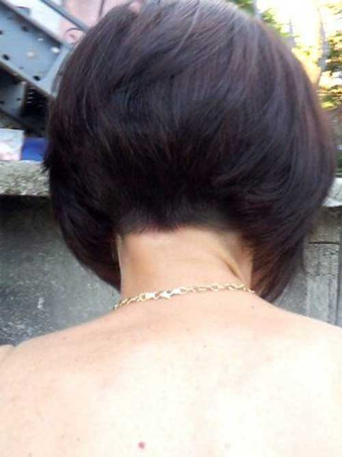 Dark Inverted Bob Haircut Back View