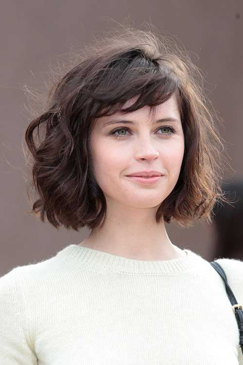 Felicity Jones Messy Bob