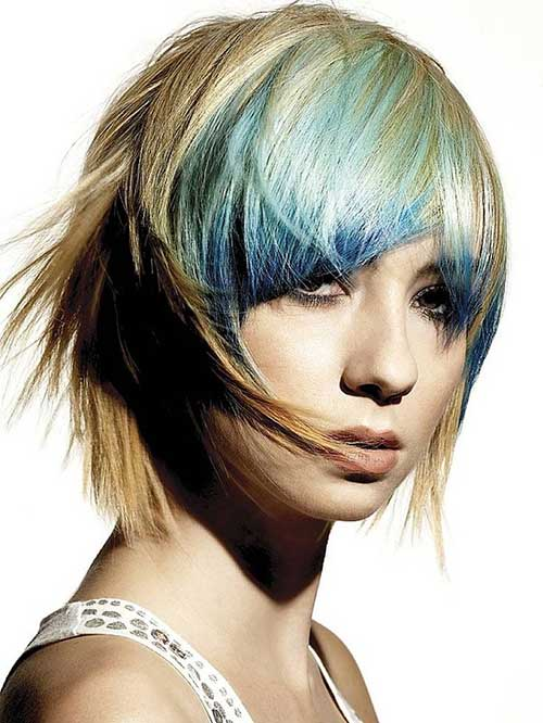 Hair Color Trends Funky Bob Style