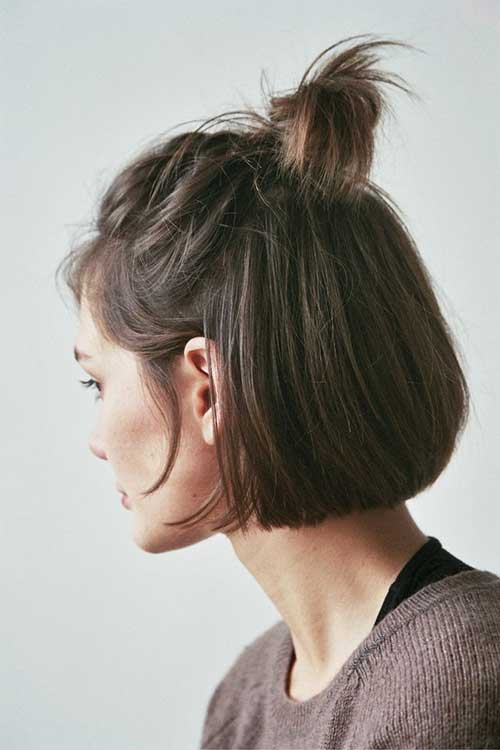 Half Top Knot for Short Hair