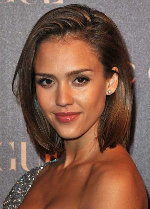Jessica Alba Oval Face Haircut