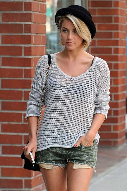 Julianne Hough Trendy Bob Hair for Ladies