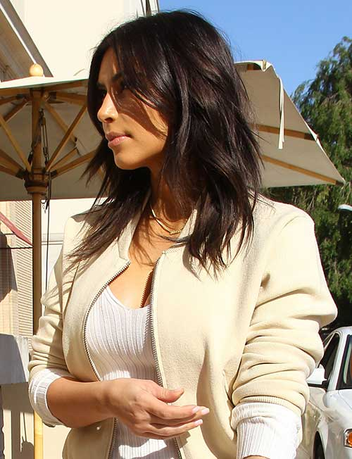 Kim Kardashian New Layered Haircut