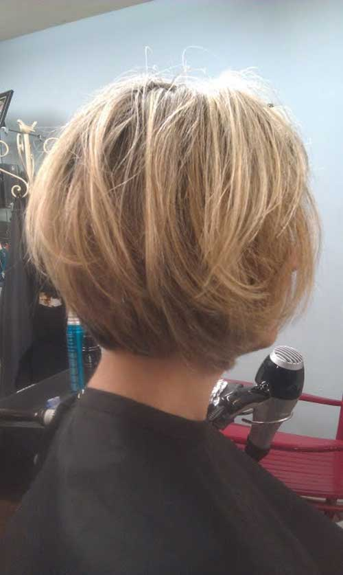 Chic Layered Bob Back View