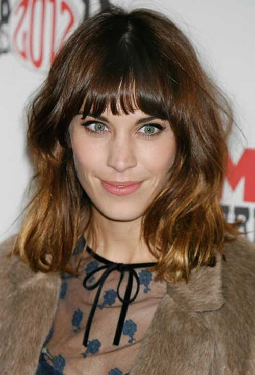 Trendy Medium Length Hair with Bangs