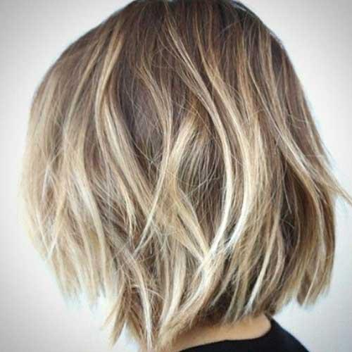 Messy Balyage Bob Haircut