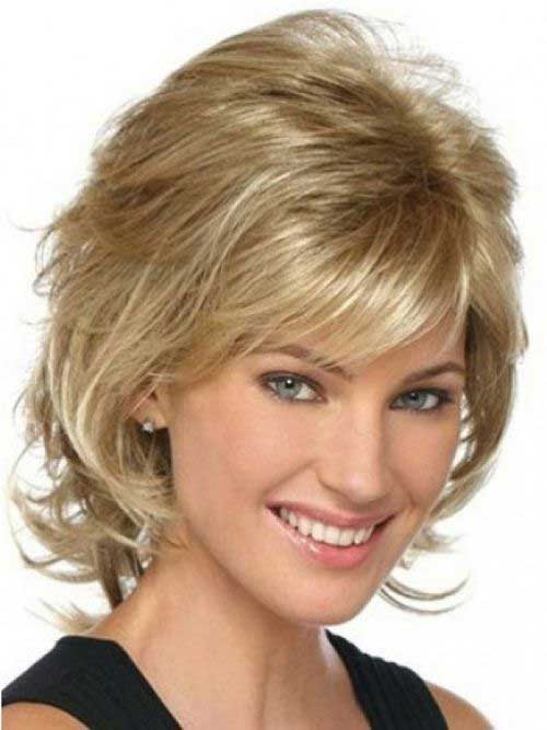 Mid Length Layered Hair Wavy