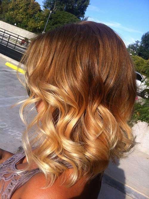 Ombre Short Hairdo Light Blonde