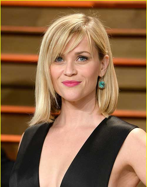 Reese Witherspoon Medium Thin Hair with Bangs