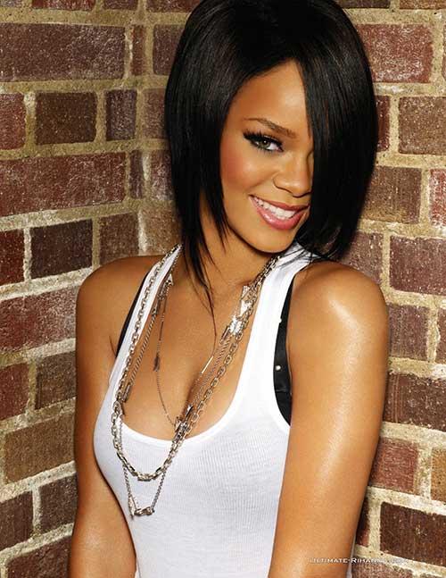 Rihanna Nice Bob Cut