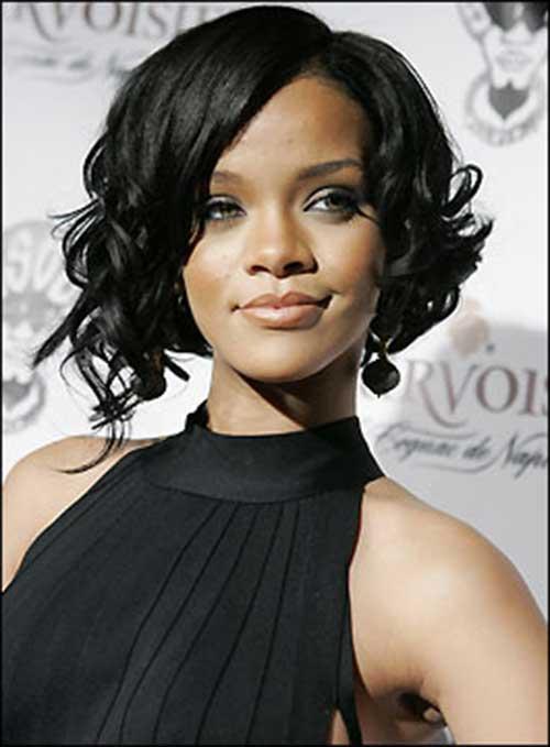 Rihanna Dark Bob Hairstyle