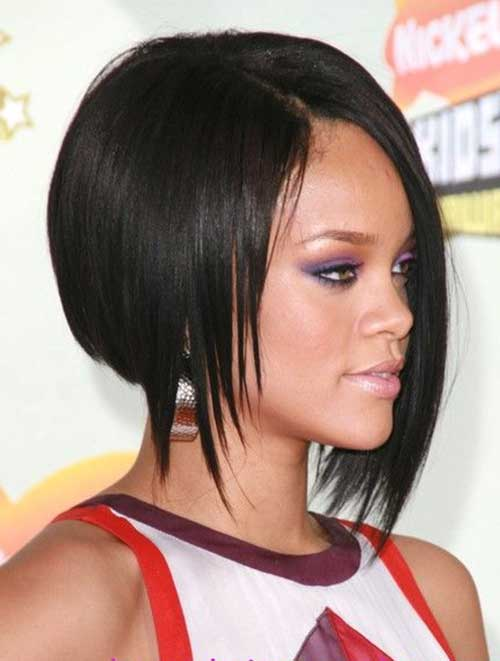 Rihanna Inverted Short Bob
