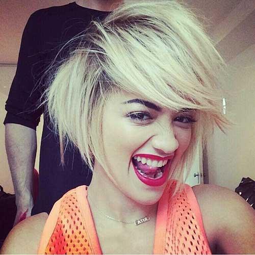 Rita Ora Bob Hairstyles 2015