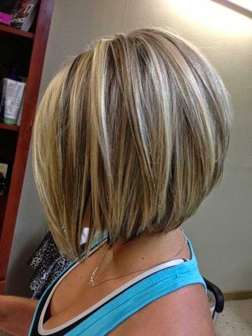 Short Blonde Bob with Highlights for 2015