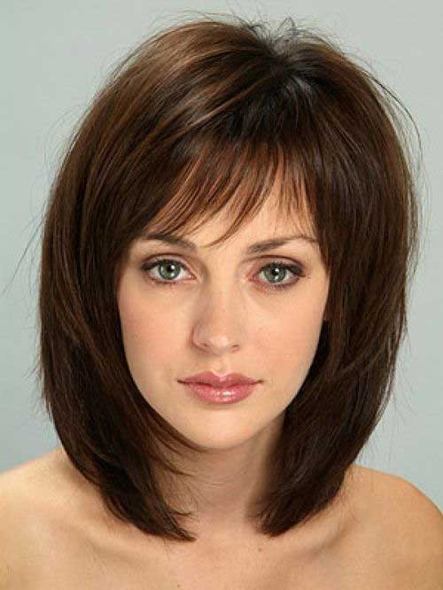 Short Bob with Bangs Hairstyles for Thick Hair