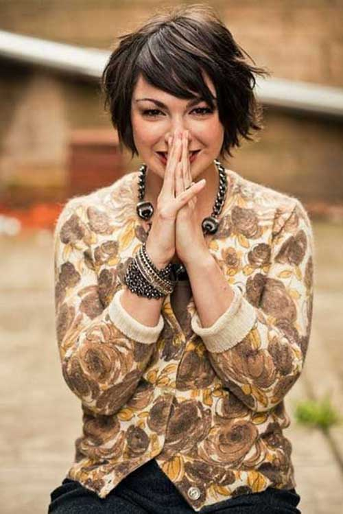 Swell 20 Short Bobs With Side Bangs Bob Hairstyles 2015 Short Hairstyles For Women Draintrainus