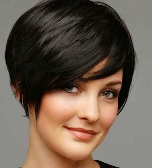 Short Hairstyles for Thick Pixie Bob Cut