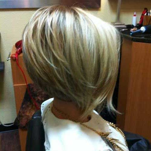 Best Short Layered Bob 2015
