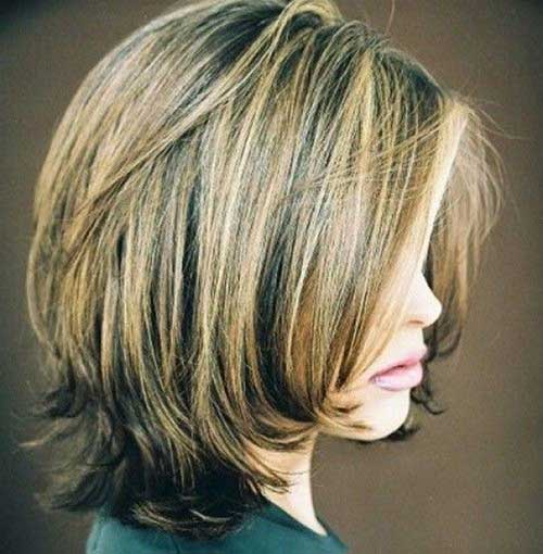 Shoulder Length Bob with Layers