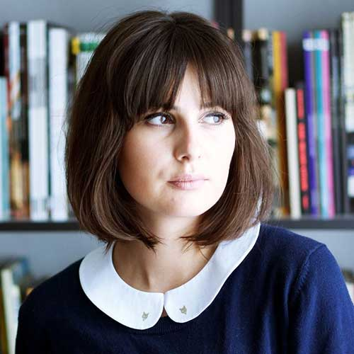Trendy Full Fringe Bob Hair Images