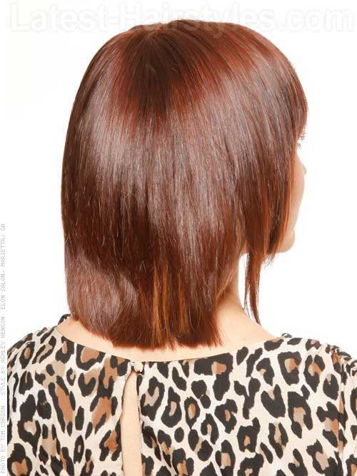 Brunette Bob Haircut Back View