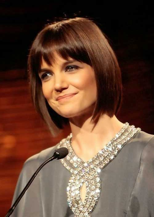 Katie Holmes Bob Hairstyles with Bangs